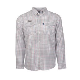Geo Plaid Button Down L/S by Aftco