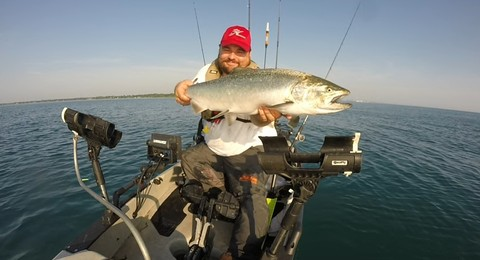 Article image - Light Tackle Jigging for Great Lakes Salmon