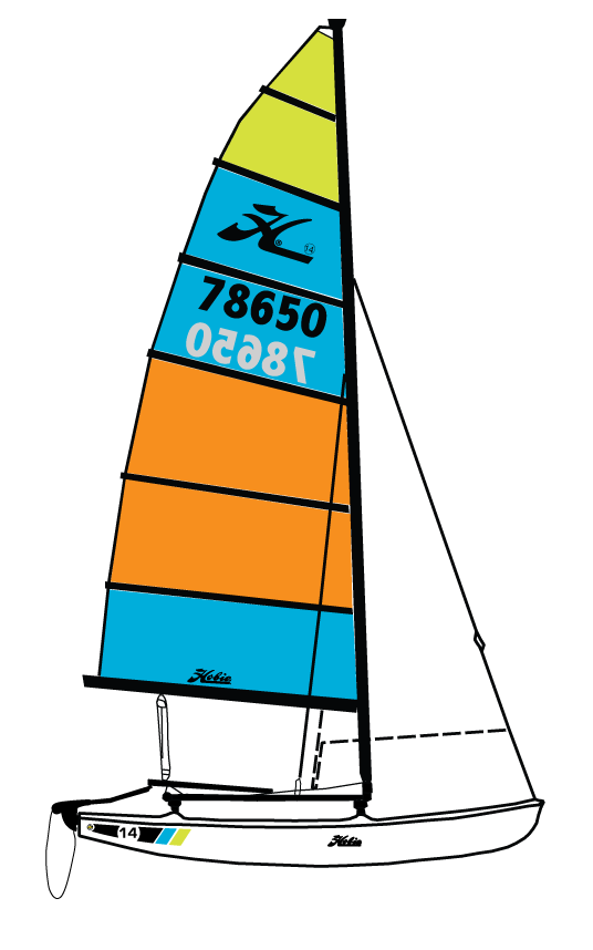 Hobie 14 Side Profile
