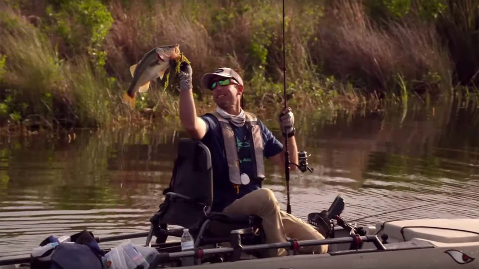 Kayak fishing with Bassmaster Elite Series Pros, Mike Iaconelli and Carl Jocumsen