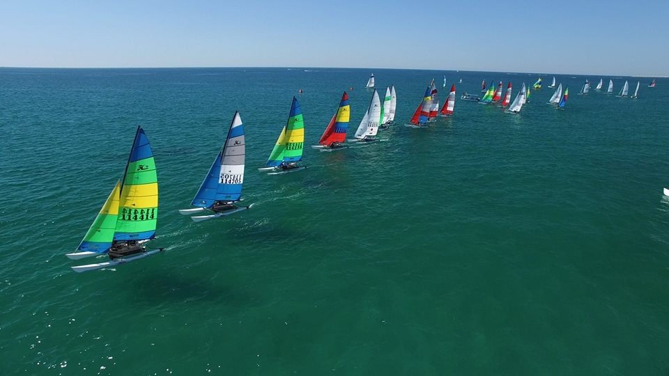 Article image - The Pinata Regatta Warms Up the North American Hobie 16 & 18 Championship Sailors