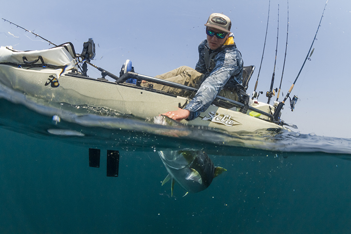 The Hobie Pro Angler is great for big and tall paddlers