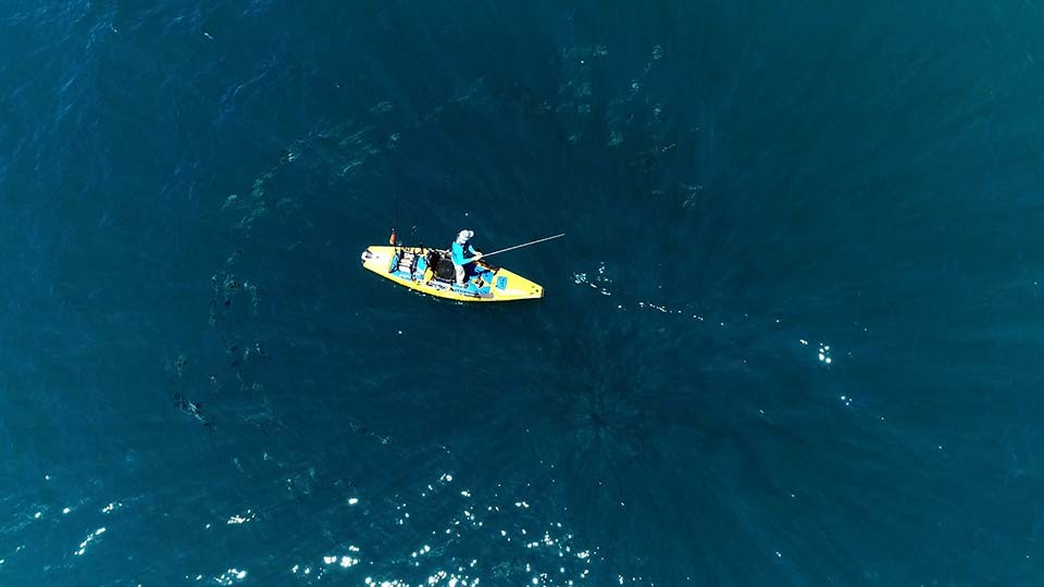 Florida Offshore Kayak Fishing for Permit in the Open Blue