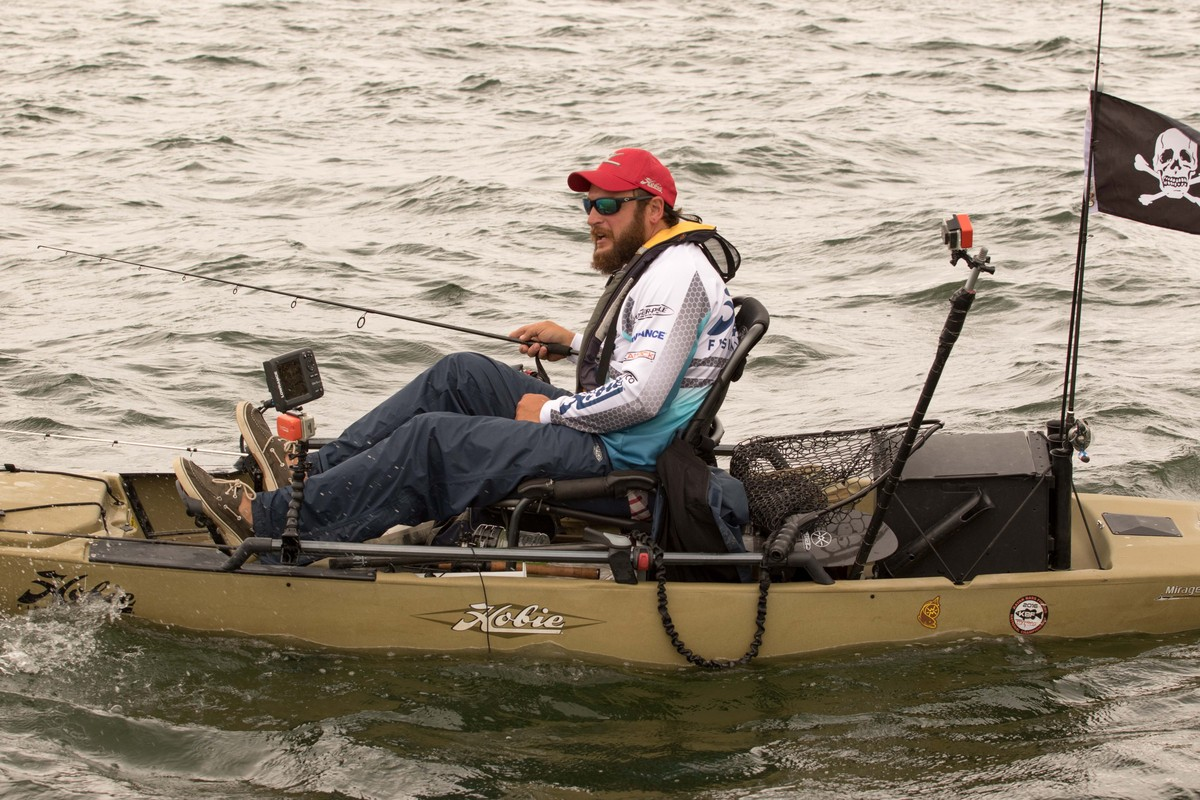 Rig like a pro kevin workman 39 s bass battlewagon hobie for Bass pro fishing kayak