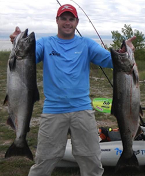Average Sized King Salmon, Manitowoc Wisconsin