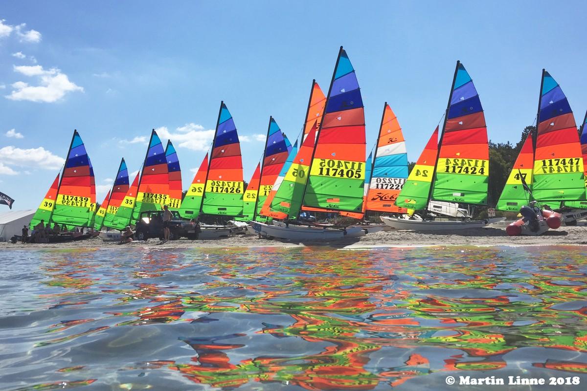Gold Fleet sails