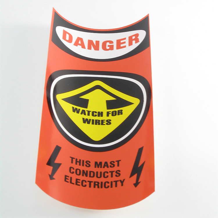 DECAL, MAST CAUTION/ORNG