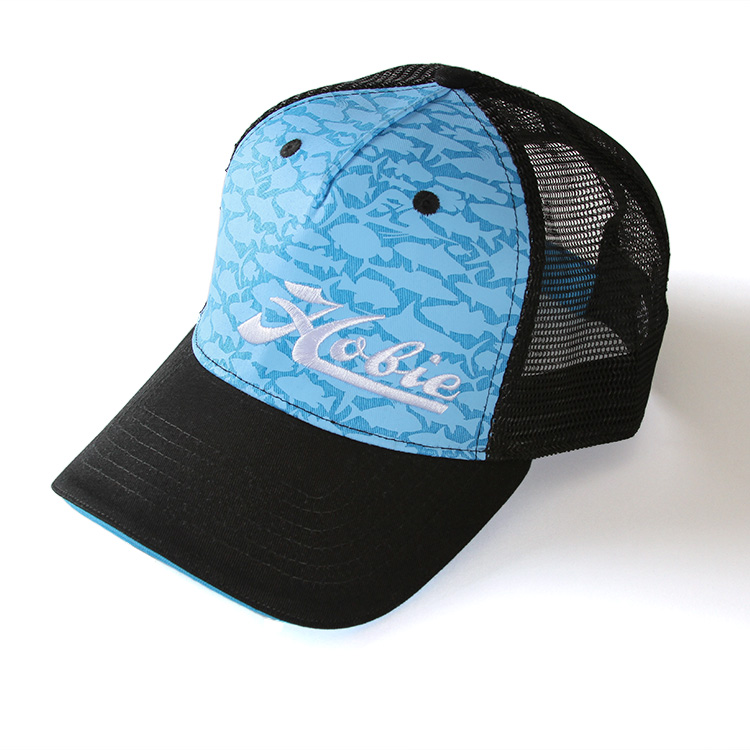 HAT, FISH PATTERN BLUE/BLACK