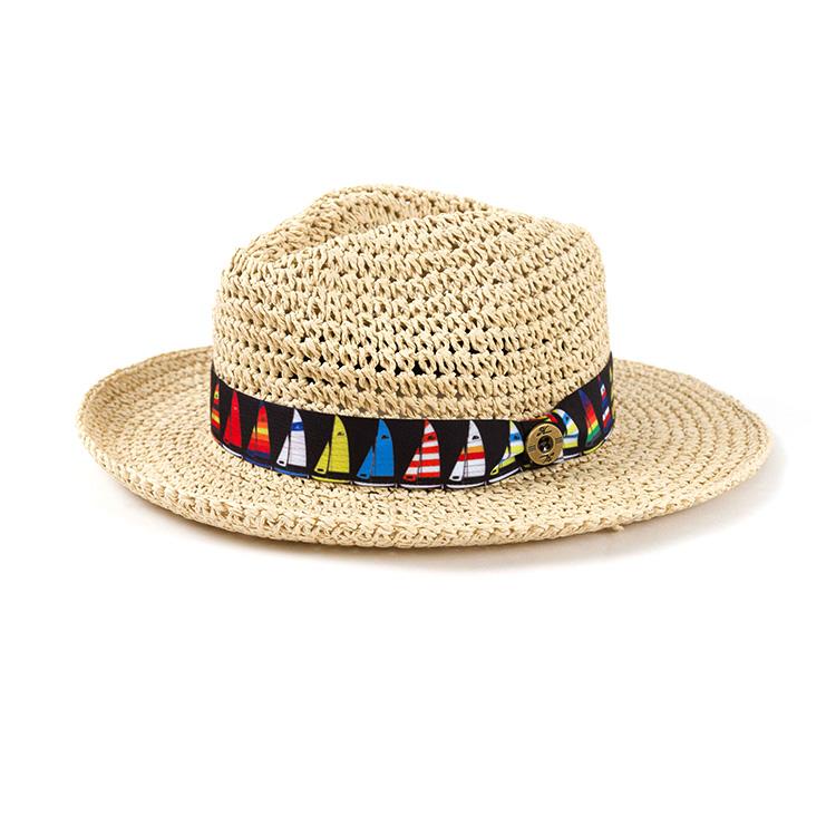 HAT, SAILBOAT STRAW LADIES