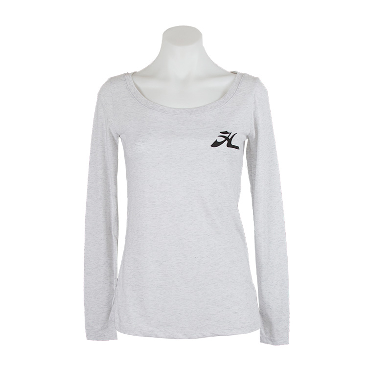 FLY H HWHT LS LADIES SCOOP T L