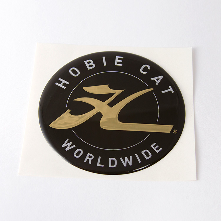 DECAL, HOBIE DOME, GOLD 2.75""