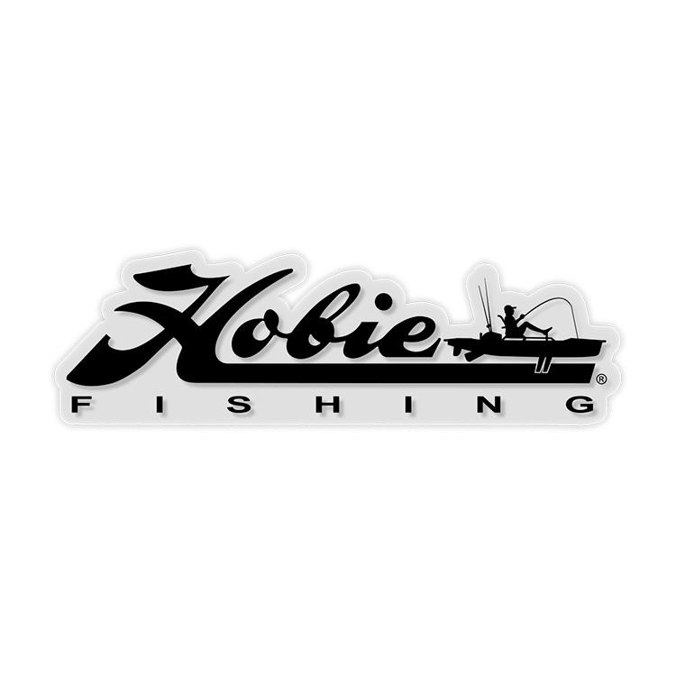 "DECAL, 12"" HOBIE FISHING BLACK"