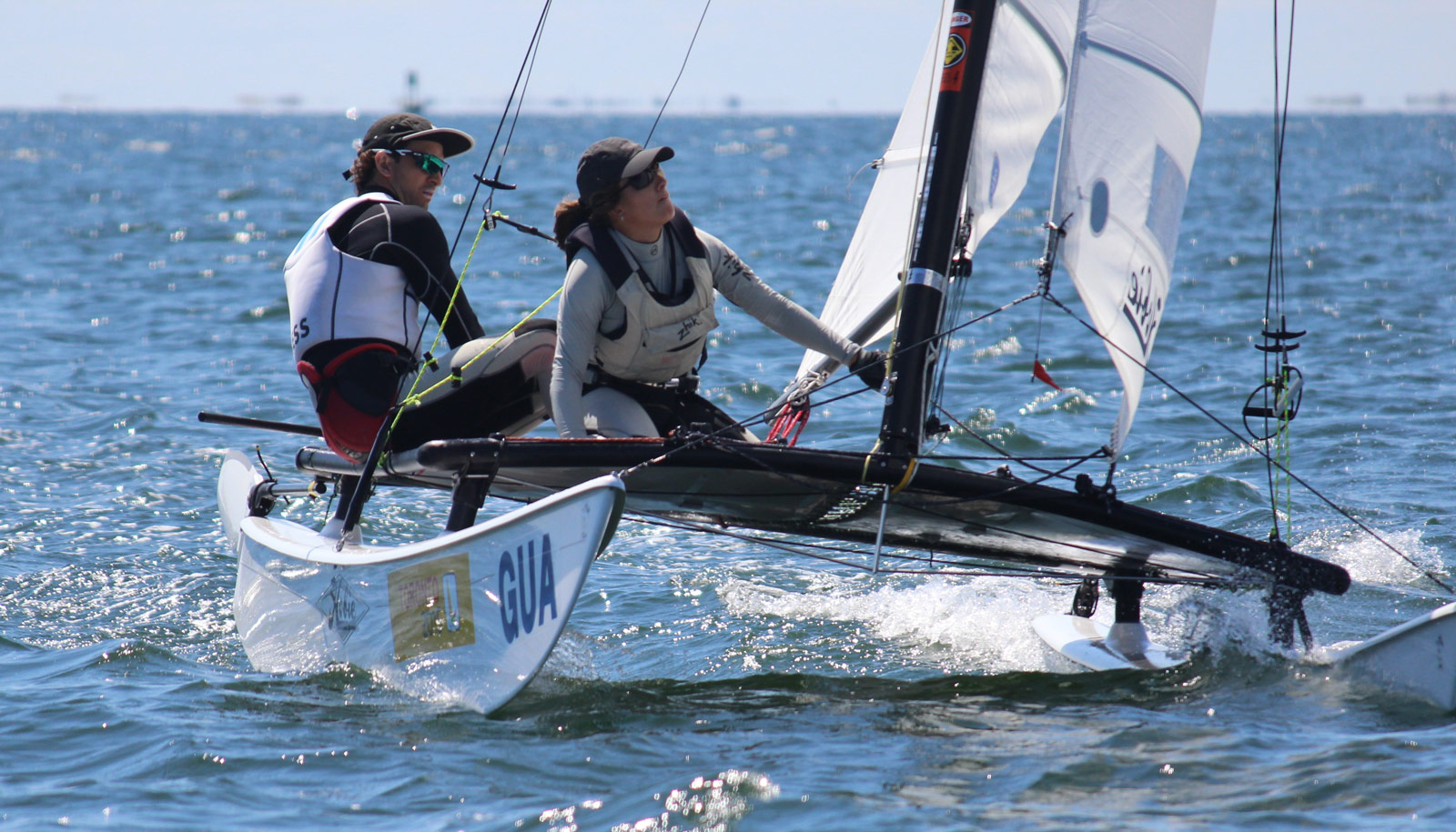 2015 Hobie 16 North American Championships - GUA Champions - Jason Hess and Irene Abascal