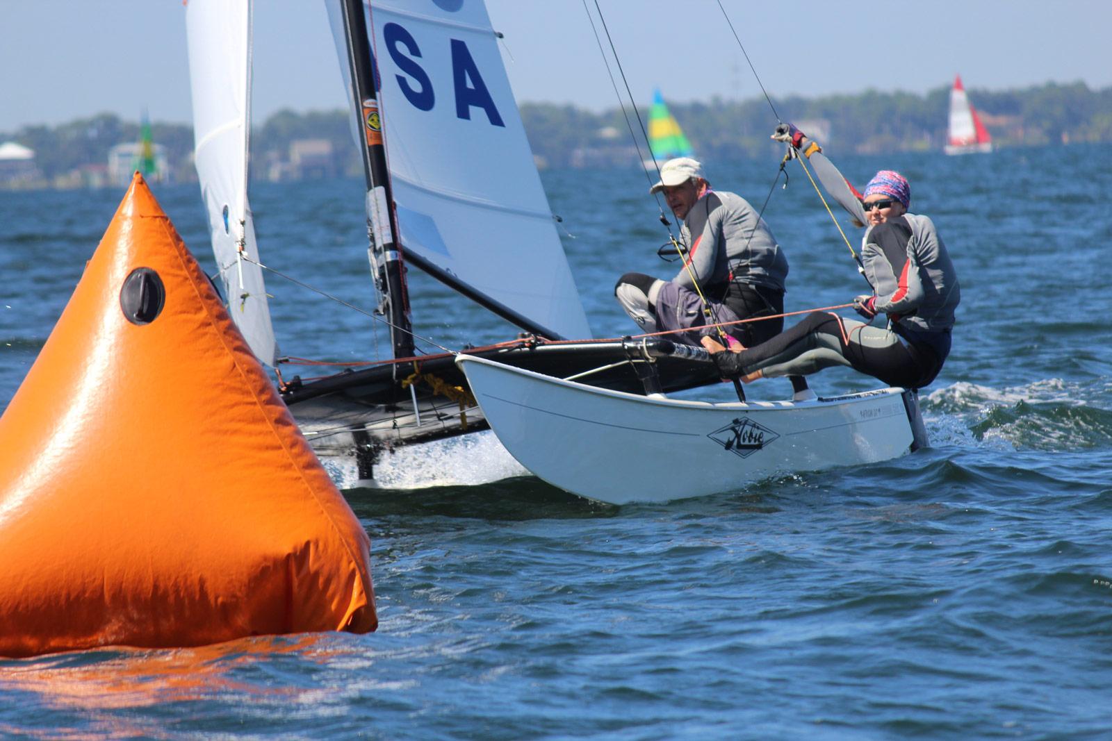 2015 Hobie 16 NA Championships - Silver Fleet Winners - Adam Atherton and Diane Bisesi
